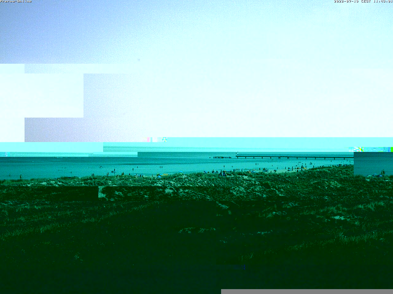 Webcam Ostseebad Prerow am Strandaufgang Bernsteinweg